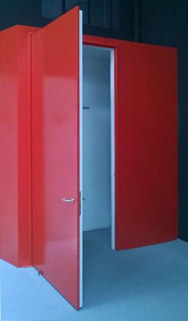 puertas cortafuegos sin bisagras